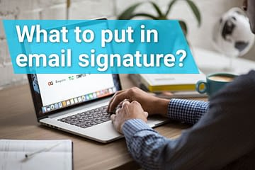 what to put in email signature