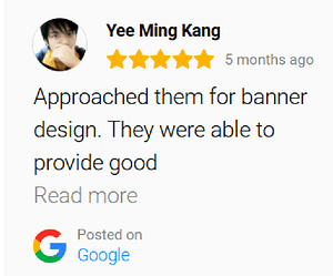 graphic design service review by client