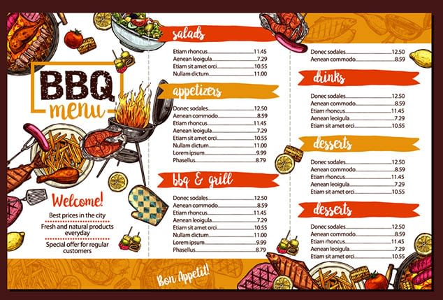 menu design malaysia