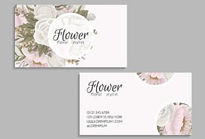 floral name card design